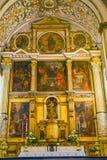 Santa Maria Church Atlar Basilica Obidos Portogallo Fotografie Stock