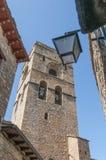 Santa Maria Church bei Ainsa bei Aragonien, Spanien Stockfotos