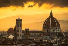 Santa Maria Church Florence. At Palazzo Michelangelo viewpoint. Historical Santa Maria Church Stock Photo