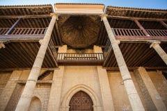 Santa Maria church main entrance in Becerril de Campos Palencia Stock Photography