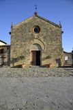 Santa Maria Church (Monteriggioni) Royalty Free Stock Photo