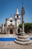 Santa Maria Church in Obidos, Portugal Stock Images