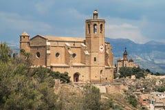 Santa Maria Church och Sant Crist av Balaguer Arkivfoto