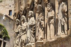 Santa Maria church,Olite ,Navarre, Spain Royalty Free Stock Photos