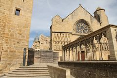 Santa Maria church,Olite ,Navarre, Spain Stock Photo