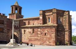 Santa Maria church in Prades, Spain Stock Image
