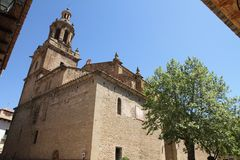 Santa Maria church,Rubielos de Mora ,Spain Stock Image