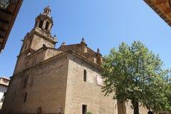 Santa Maria church,Rubielos de Mora ,Spain Stock Image