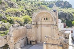 Santa Maria church ruins, Cazorla, Jaen, Spain.  stock photography