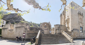 Santa Maria church ruins, Cazorla, Jaen, Spain.  royalty free stock photography
