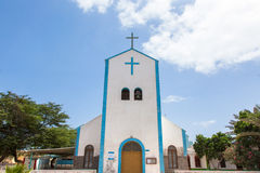 Santa Maria city church in Sal island, Cape Verde - Cabo Verde Royalty Free Stock Image