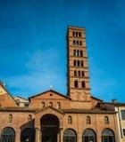 Santa Maria in Cosmedin, Rome. The church of Santa Maria in Cosmedin in Rome, Italy. The church is known to contain the famous sculpture La Bocca della Verita stock photography