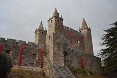 Santa Maria da Feira Castle stock photo