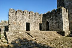 Santa Maria da Feira castle stock photography