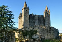 Santa Maria da Feira castle royalty free stock images