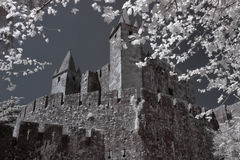 Santa Maria da Feira medieval castle stock photo
