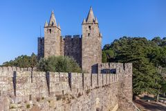 Santa Maria da Feira, Portugal - Feira Castle stock photography
