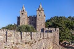 Santa Maria da Feira Portugal - Feira slott arkivbild
