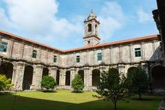 Santa Maria de Armenteira Monastery in Galicia. Cloister of the Cistercian monastery of Santa Maria de Armenteira in Pontevedra, Spain & x28;ca. 1.162& x29 Stock Photography