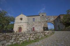 Santa Maria de Carquere Monastery, romanischer Weg stockfoto