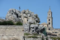 Santa Maria de Idris- und KathedralenGlockenturm Lizenzfreies Stockfoto