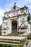Ruined church, Santa Maria de Jesus near Antigua, Guatemala stock images