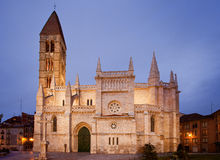 Santa Maria de la Antigua Church at dusk. Valladolid, Castilla y Leon. Spain stock images