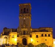 Santa Maria de la Ascuncion at dusk royalty free stock photography