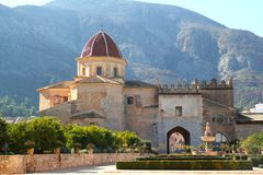 Santa Maria de la Valldigna Simat Monastery Spain Stock Photography