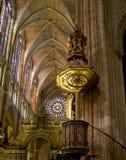 Santa Maria de Leon Cathedral. Spain Stock Photo