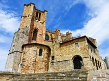 SANTA MARIA DE losu angeles ASUNCION kościół W CANTABRIA Obrazy Royalty Free