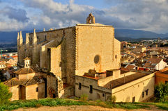Santa Maria de Montblanc church, Spain Stock Photos