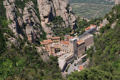 Santa Maria de Montserrat Royalty Free Stock Photo