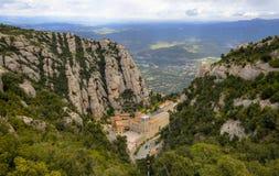 Santa Maria de Montserrat Abbey imagen de archivo libre de regalías
