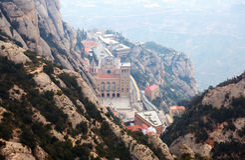 Santa Maria de Montserrat Abbey Royaltyfria Bilder