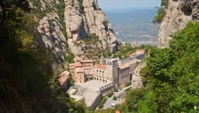 Santa Maria de Montserrat Abbey Fotografía de archivo