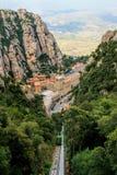 Santa Maria de Montserrat Abbey Arkivbilder