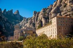 Santa Maria de Montserrat Abbey Arkivfoton