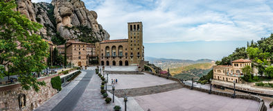 Santa Maria de Montserrat Abbey. Abbaye de Montserrat près de Barcelone Stock Images