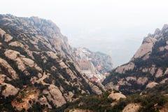 Santa Maria de Montserrat Abbey catalonia Royaltyfri Bild
