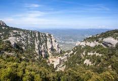 Santa Maria de Montserrat Abbey Catalonia, Spanien Royaltyfria Foton