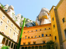 Santa Maria de Montserrat Abbey Catalonia, Spanien Royaltyfri Bild