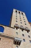 Santa Maria de Montserrat Abbey, cerca de Barcelona, España Foto de archivo libre de regalías