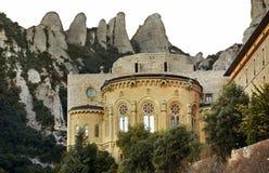 Santa Maria de Montserrat Abbey cerca de Barcelona españa Imagenes de archivo