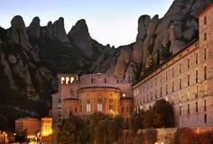Santa Maria de Montserrat Abbey cerca de Barcelona españa Fotografía de archivo