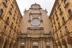 Santa Maria de Montserrat Abbey en Cataluña, España Fotos de archivo