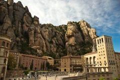 Santa Maria de Montserrat Abbey en España Imagen de archivo
