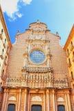 Santa Maria de Montserrat Abbey en Monistrol de Montserrat Imagen de archivo libre de regalías