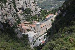 Santa Maria de Montserrat Abbey en Monistrol de Montserrat, Cata Fotos de archivo libres de regalías