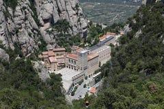Santa Maria de Montserrat Abbey en Monistrol de Montserrat, Cata Foto de archivo libre de regalías